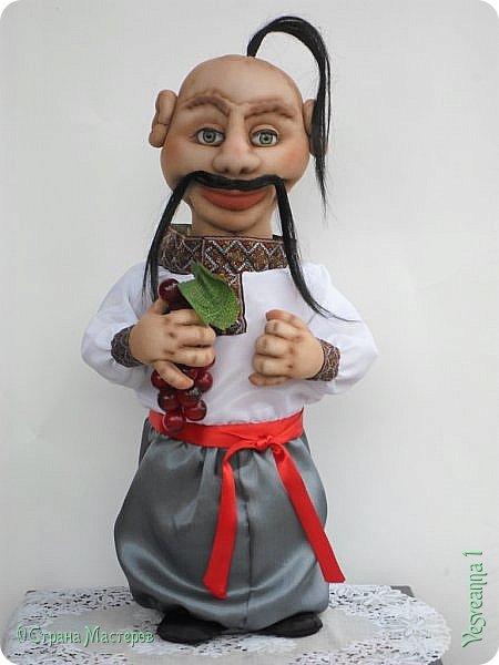 Доброго времени суток всем! Сшила куколку по мастер-классу Светланы Лазаревой. Первый раз попробовала сделать стеклянные глазки с ресницами. фото 2