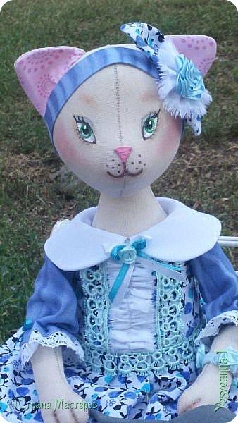 Здравствуйте! Знакомьтесь - киса Анфиса!  Кошечка сшита по замечательному  мастер-классу Ларисы Садаковой. фото 1
