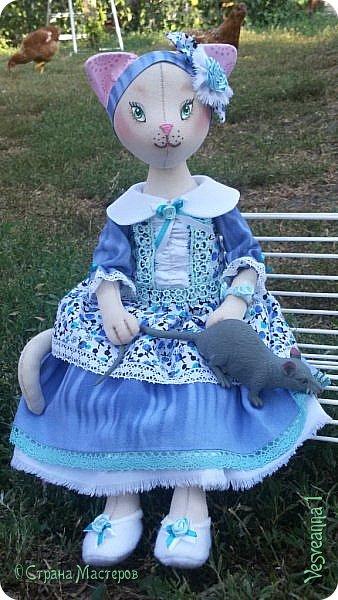 Здравствуйте! Знакомьтесь - киса Анфиса!  Кошечка сшита по замечательному  мастер-классу Ларисы Садаковой. фото 2