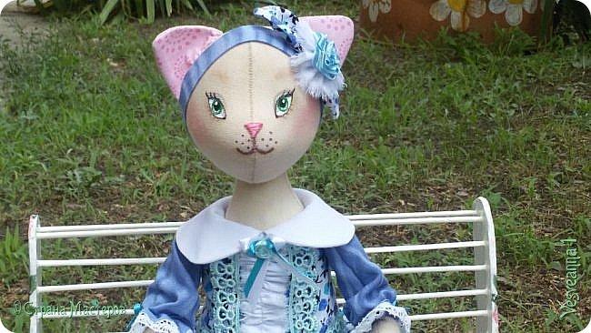 Здравствуйте! Знакомьтесь - киса Анфиса!  Кошечка сшита по замечательному  мастер-классу Ларисы Садаковой. фото 7