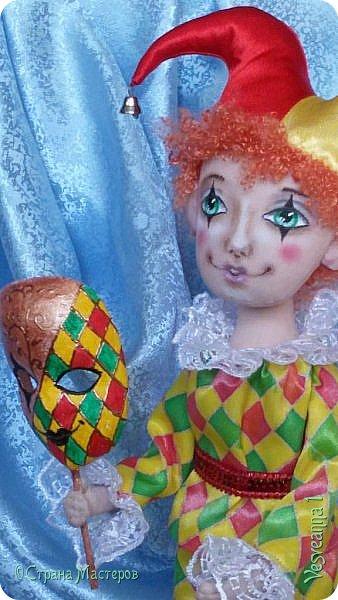 Здравствуйте все мои гости! Пробую себя в шитье текстильных кукол. Вот такой Арлекин появился у меня после мастер-класса Т. Коковихиной. фото 5