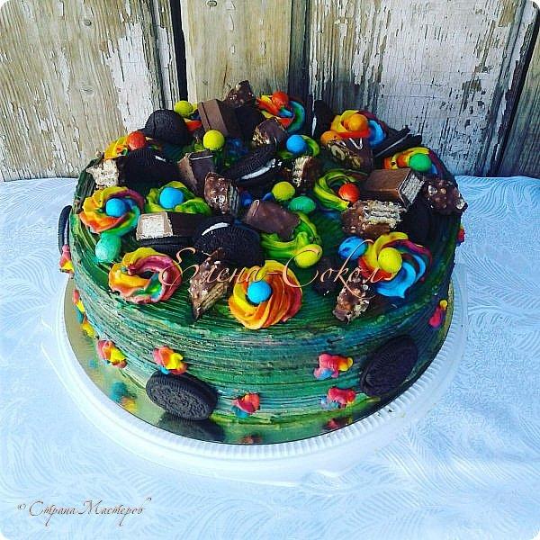 И снова все здравствуйте!Я к вам с новой порцией тортов и пряников...Этот торт делала соседке на день рождение на 9 августа фото 3