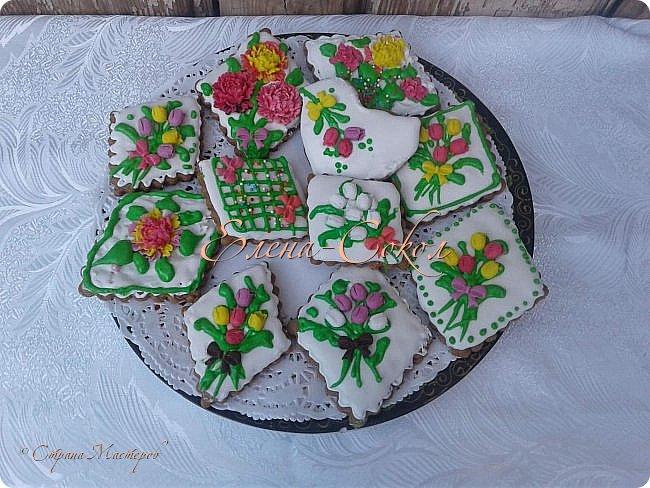 И снова все здравствуйте!Я к вам с новой порцией тортов и пряников...Этот торт делала соседке на день рождение на 9 августа фото 5