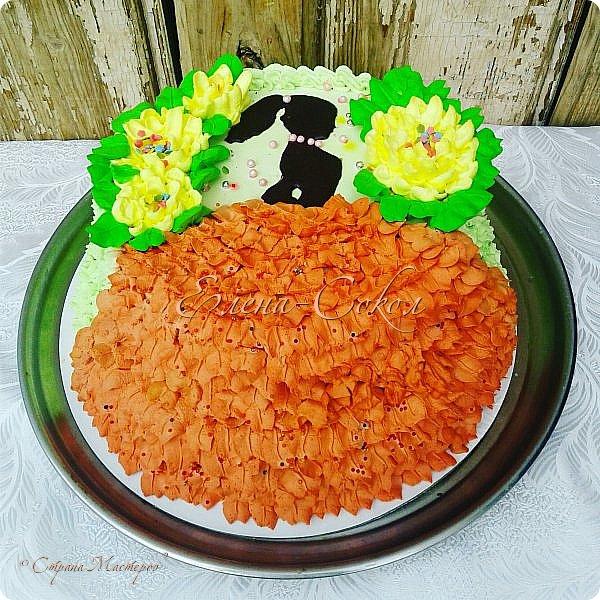 И снова все здравствуйте!Я к вам с новой порцией тортов и пряников...Этот торт делала соседке на день рождение на 9 августа фото 1