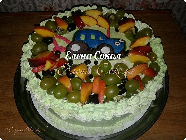 И снова все здравствуйте!Я к вам с новой порцией тортов и пряников...Этот торт делала соседке на день рождение на 9 августа фото 6