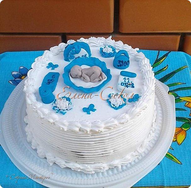 И снова все здравствуйте!Я к вам с новой порцией тортов и пряников...Этот торт делала соседке на день рождение на 9 августа фото 7