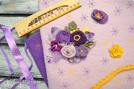 Текстильные брошки фото 5