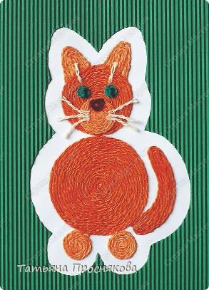 Кошка из ниток