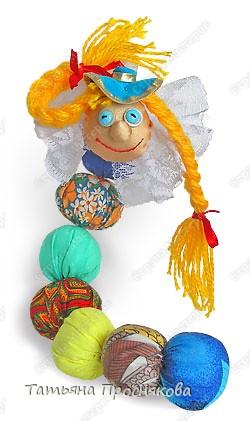 Игрушка Шитьё Гусеница из ткани Пряжа Пуговицы Тесьма шнур Ткань