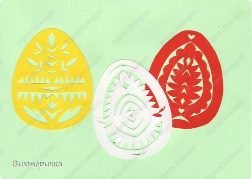 Эти пасхальные яйца навеяны мотивами белорусской выцинанки. Подойдут для создания открытки или украшения самого яйца. фото 1