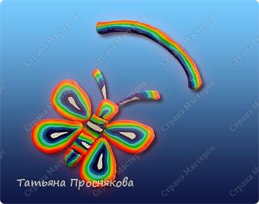 Аппликация из пластилина (+ обратная): Радужные бабочки