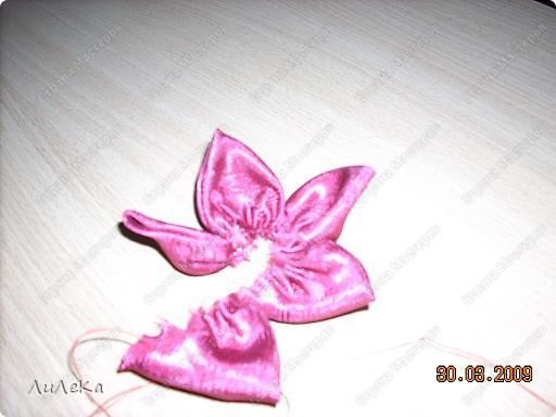 Мастер-класс Шитьё Цветы из кругов ткани мастер-класс Бусины Нитки Ткань фото 6