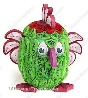 Игрушка Мастер-класс Квиллинг И зелёный попугай  в технике квиллинга Бумага Киндер-сюрприз