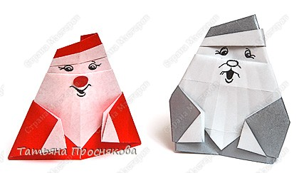 Оригами: Дед Мороз