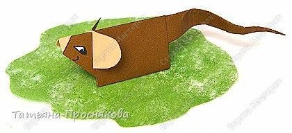 Оригами: Мышь со светлыми ушками