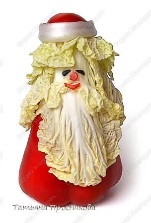 Дед Мороз из овощей