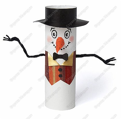 Бумагопластика: Снеговик-артист
