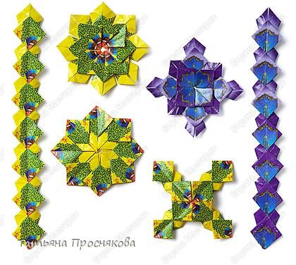 Мастер-класс Мозаика Оригами Орнаменты из фантиков Фантики