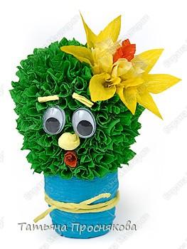 Торцевание на пластилине: Цветущий кактус