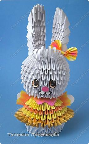 Оригами модульное: Зайка-модница