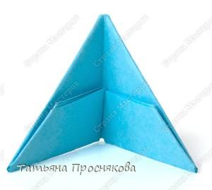 Мастер-класс Оригами китайское модульное Треугольный модуль оригами Бумага