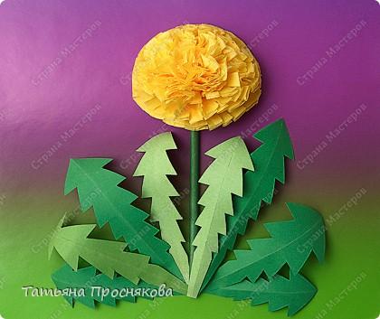 Цветы из салфеток Бумага