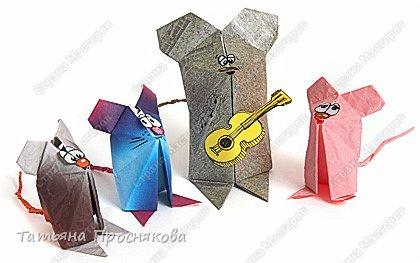 Оригами: Мышата-музыканты