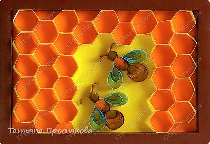 Бумагопластика: Пчёлки на сотах фото 1