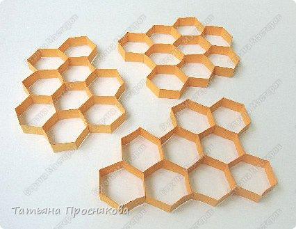 Бумагопластика: Пчёлки на сотах фото 16