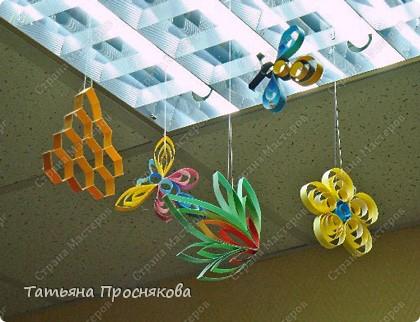 Бумагопластика: Пчёлки на сотах фото 21