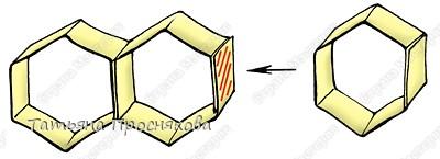 Бумагопластика: Пчёлки на сотах фото 6