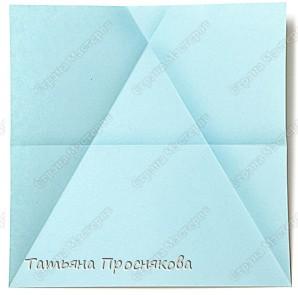 Мастер-класс Оригами Как получить равносторонний треугольник из квадрата Бумага