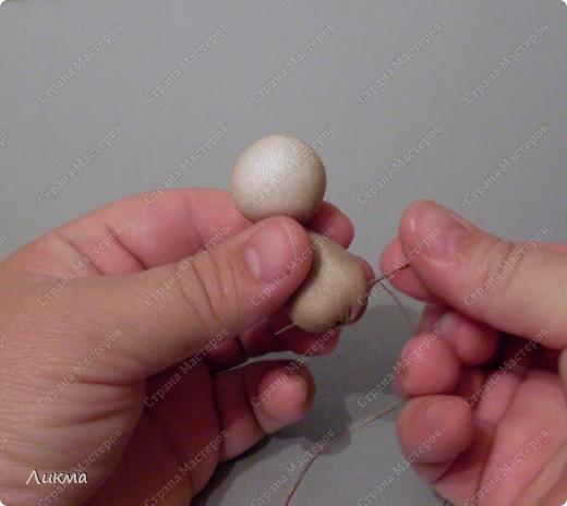 Сегодня я показываю, как сделать маленькую куколку. По этому МК я делала Лесную Феечку. фото 14