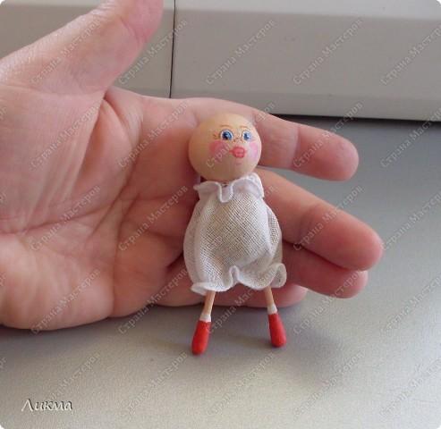 Сегодня я показываю, как сделать маленькую куколку. По этому МК я делала Лесную Феечку. фото 26