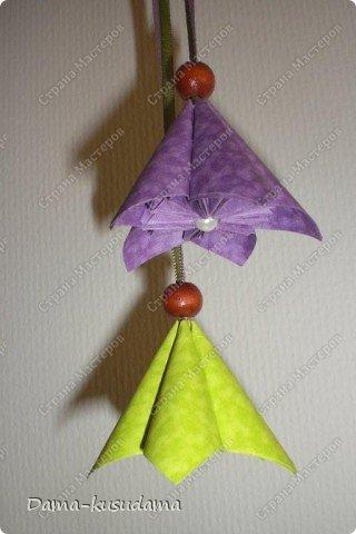 Кусудама фиолетово-зеленая. фото 5