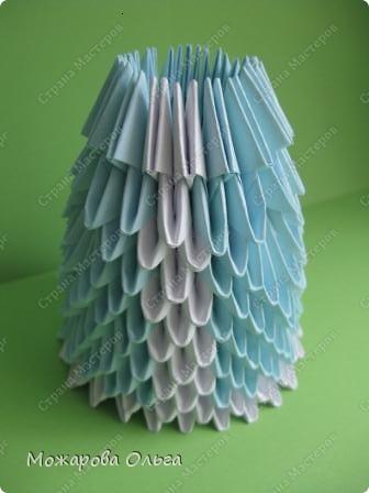 Мастер-класс Новый год Оригами китайское модульное МК Снегурочка Бумага фото 11