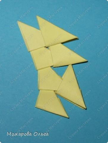 Мастер-класс Поделки для мальчиков Оригами китайское модульное МК самолёт Бумага фото 16