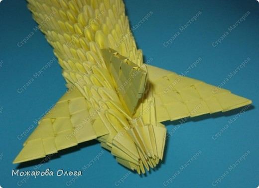 Мастер-класс Поделки для мальчиков Оригами китайское модульное МК самолёт Бумага фото 26