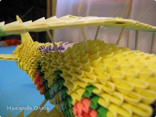 Мастер-класс Поделки для мальчиков Оригами китайское модульное МК самолёт Бумага фото 34