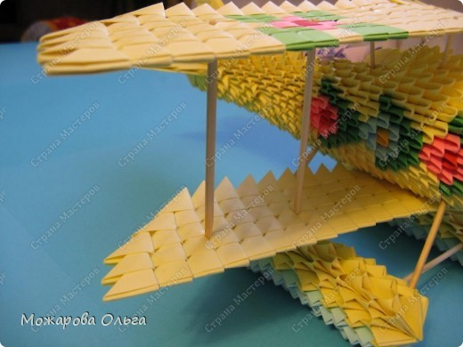Мастер-класс Поделки для мальчиков Оригами китайское модульное МК самолёт Бумага фото 35
