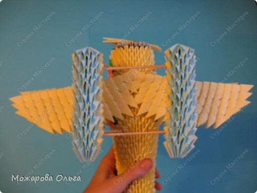 Мастер-класс Поделки для мальчиков Оригами китайское модульное МК самолёт Бумага фото 33