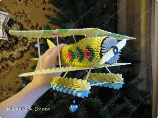 Мастер-класс Поделки для мальчиков Оригами китайское модульное МК самолёт Бумага фото 39