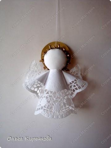 Ангел из ажурных салфеток своими руками