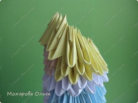 Мастер-класс Новый год Оригами китайское модульное МК Снегурочка Бумага фото 18