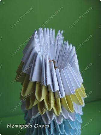 Мастер-класс Новый год Оригами китайское модульное МК Снегурочка Бумага фото 19