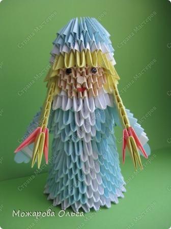 Мастер-класс Новый год Оригами китайское модульное МК Снегурочка Бумага фото 23