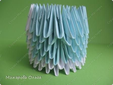 Мастер-класс Новый год Оригами китайское модульное МК Снегурочка Бумага фото 6