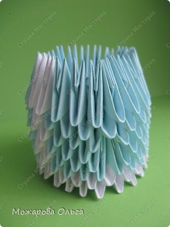 Мастер-класс Новый год Оригами китайское модульное МК Снегурочка Бумага фото 7