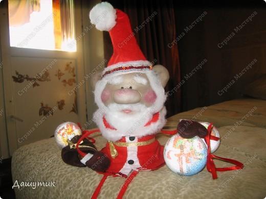 Дедушка мороз, борода из ваты....Теперь с ножками и ручками))) фото 2