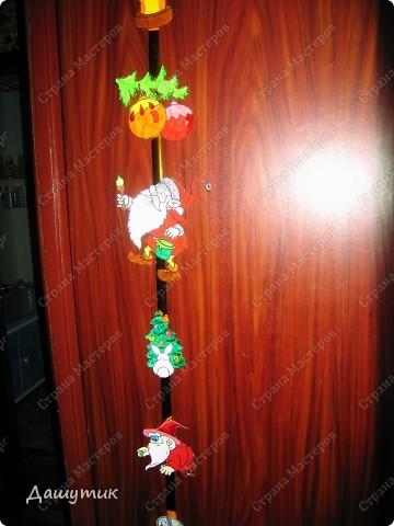 Предлагаю вам сделать вот такую новогоднюю гирлянду.  фото 5